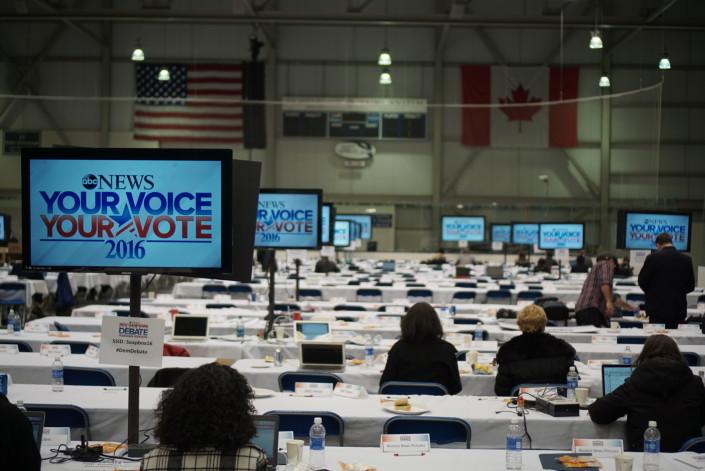 Press Filing Room - Saint Anselm Democratic Debate